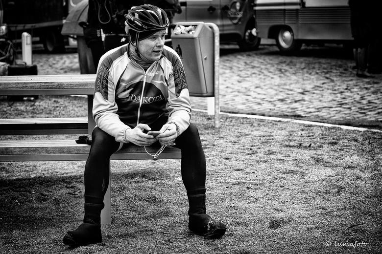 Wachten op de renners -