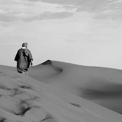 Zandduinen Merzouga zwart-wit (Marokko)