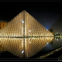Louvre in de avond