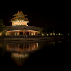 hoek toren van de verboden stad in Beijing