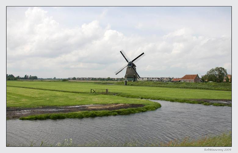 Zicht op Volendam. -