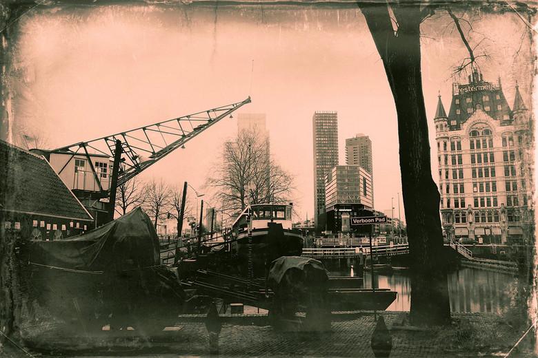 Rotterdam van toen naar nu - Rotterdam, foto van nu in een oud jasje