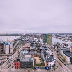 Antwerpen van bovenaf wijk ''het eilandje''