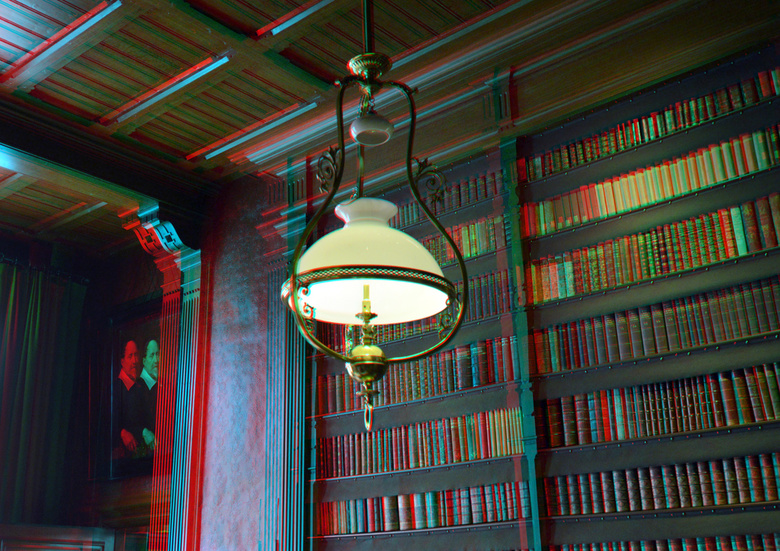 Huis van Gijn Dordrecht 3D - Huis van Gijn Dordrecht 3D<br /> Bibliotheek  anaglyph stereo