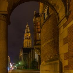 Groningen, doorkijkje naar de Martinitoren