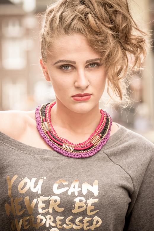 Model Sam - Fashion shoot gedaan met styling en visagie.