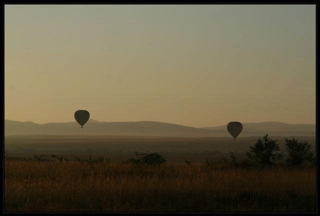 Balonvaren in de Masai Mara - Heel in de vroegte kun je met een luchtballon de Masai Mara van boven bekijken. <br /> <br /> Het levert ook voor de m