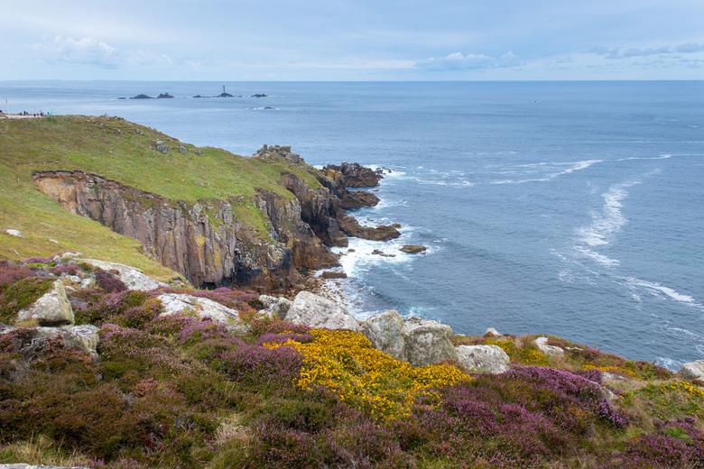 Land's End Cornwall - Uitzicht naar het uiterste pintje van Engeland