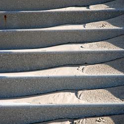 trap met zand
