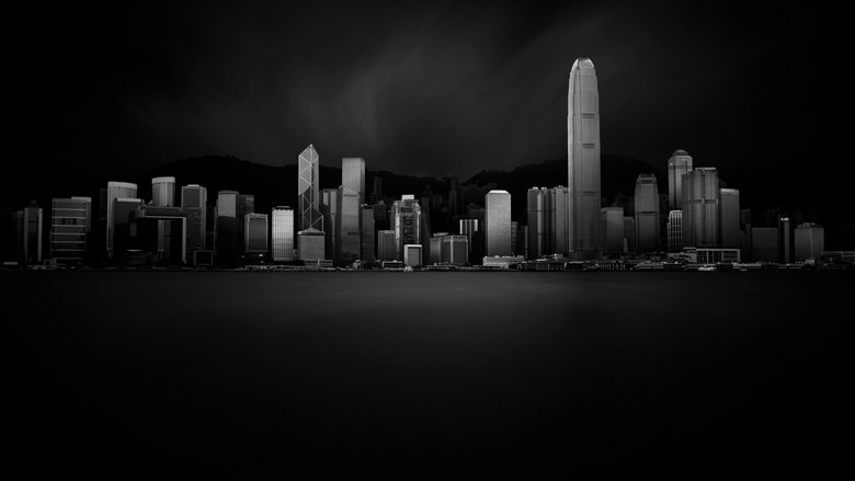 Hong Kong Island - Hong Kong Skyline<br /> <br /> 300 seconden belichting met 13 stop ND filter.<br />