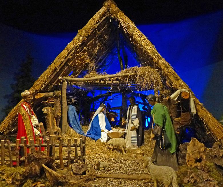 Kerststal - In Ars Krippana stonden veel kerststallen uit verschillende landen en culturen. Sommige waren redelijk klein anderen levensgroot. Het was