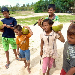 Cocosnootverkopertjes