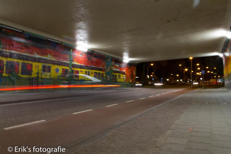 Graffiti Trein - Dit graffiti werk is te vinden onder het viaduct van de A28 te zwolle.
