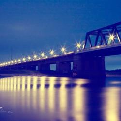 Spoorbrug Deventer@night