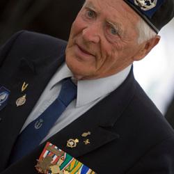 oorlogsveteraan in Wageningen