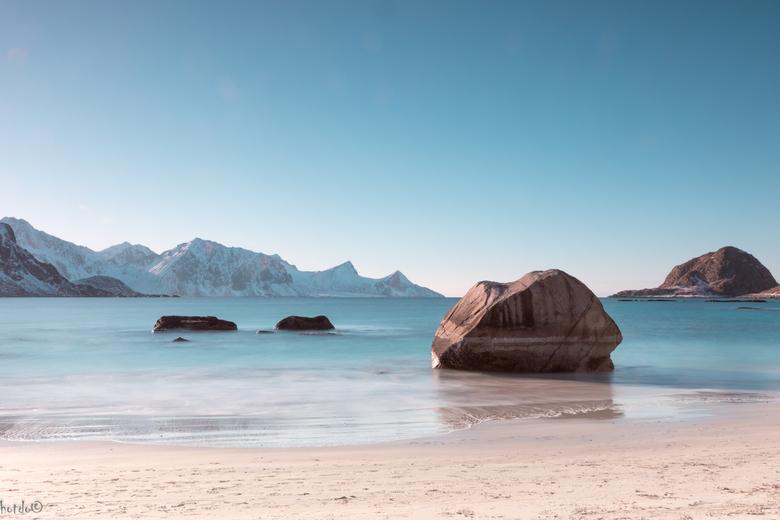 Haukland Beach - Nog maar eentje uit de reis naar de Lofoten. Dit keer een compositie op het strand van Haukland. Dit strand wordt beschouwd als een v