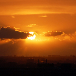 Zonsondergang eind september