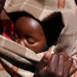 moeder en kind in Lesotho