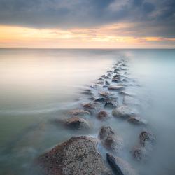 Lang licht aan de waddenzee
