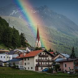 regenboog in Tirol