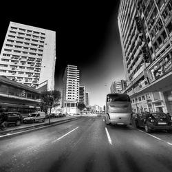 een straat in Casablanca