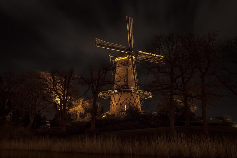 Molen bij avond - Molen van Piet Alkmaar