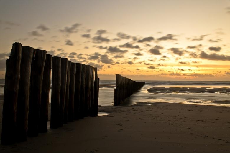 zonsondergang in Westenschouwen - zonsondergang in Westenschouwen (Zeeland)