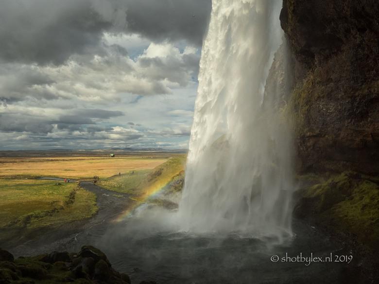 Seljalandsfoss - Seljalandsfoss. Een van de beroemde watervallen aan de zuidkust van IJsland.