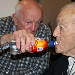 Portret, broers 80 en 90 jaar