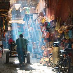 Coloured market life