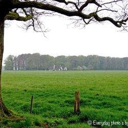 Zicht over het landschap bij kasteel Eerde