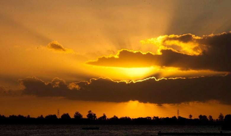 sunset - zonsopgang noord aa zoetermeer