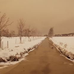 Vlak na een fikse sneeuwbui