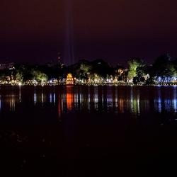 De skyline van Hanoi.