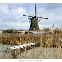 Kinderdijk in de winter 2