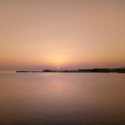 Zonsopgang vorige maand in Hurghada