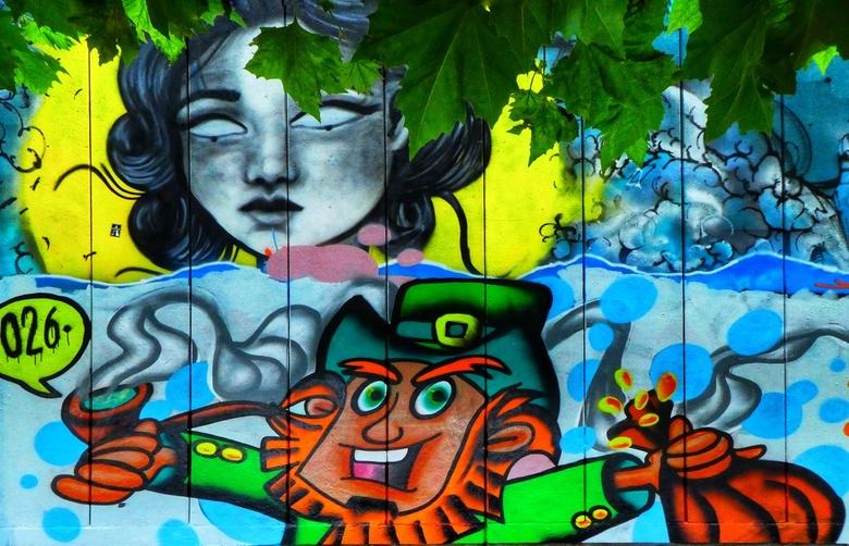 Kunst op straat - In Arnhem veel graffiti te zien Langs de kade<br /> <br /> Wordt vervolgd
