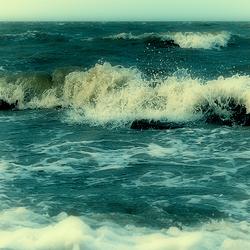 Storm op de Waddenzee