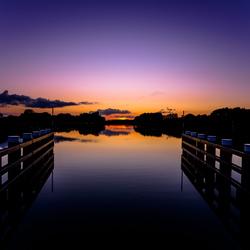 Zonsondergang vanaf de brug!
