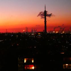 Sundown boven de Waalhaven (2)