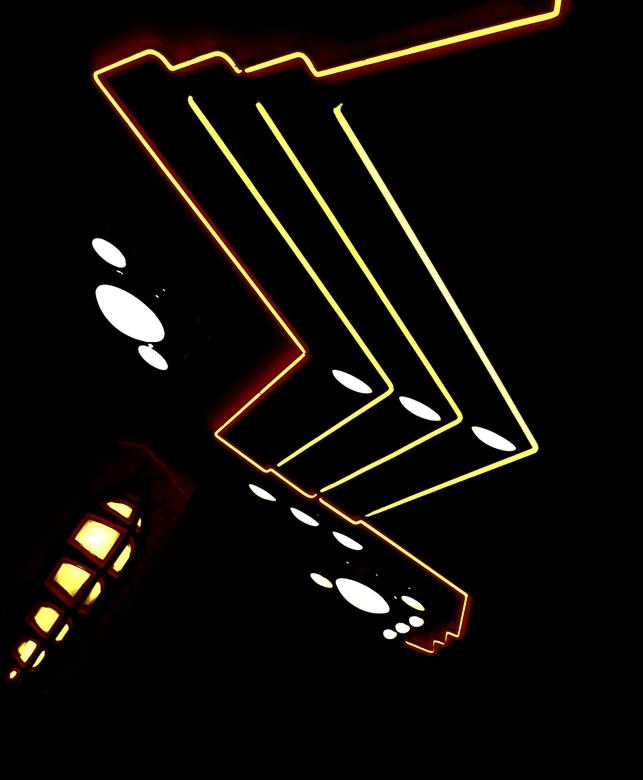 lichteffecten - stukje kunst van licht.<br />