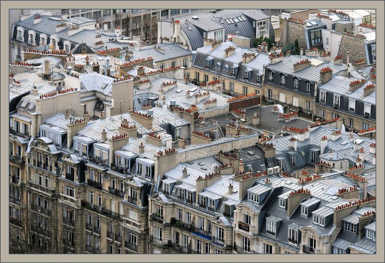 Parijse daken - Zicht vanaf de Eiffeltoren
