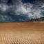 empty Beach Knokke
