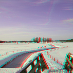 Winter 2009 in 3D Anaglyph