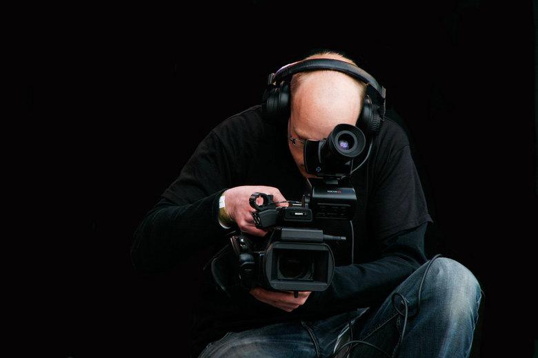Cameraman - Cameraman aan het testen.