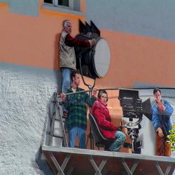 Muurschildering Chamonix