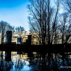 Reflectie in aftakking van De Oude-Maas