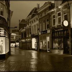 Zwolle centrum in sepia