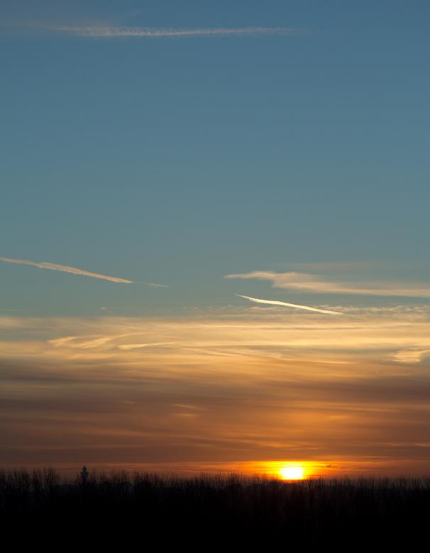 Belofte voor een mooie dag - Een heerlijk  zonopkomst afgelopen vrijdag, genomen vanaf de Big spotters hill in de Groene weelde Haarlemmermeer