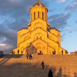 Kerk in het gouden licht